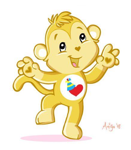 Monkey Care Bear Cartoon