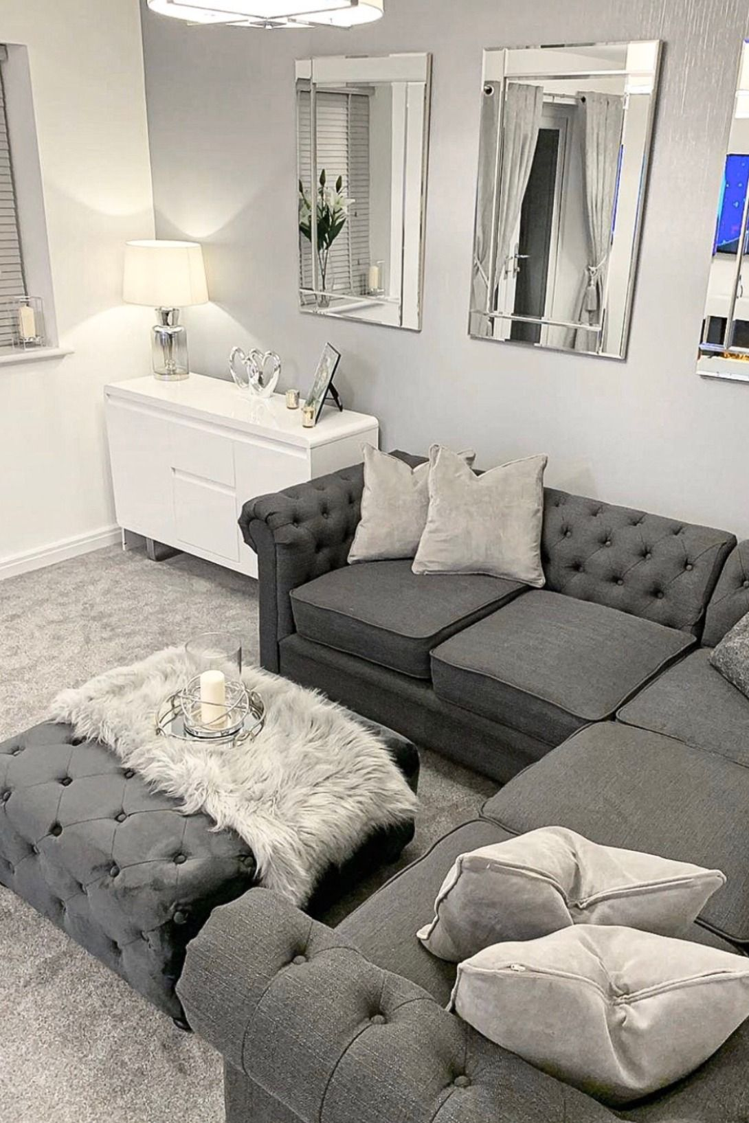 Sparkle Plain Texture Wallpaper Grey In 2020 Classy Living Room Living Room Ideas Uk Gray Living Room Design