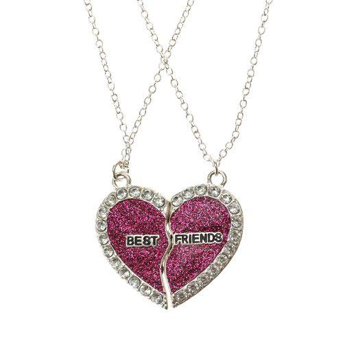 2 pack bff broken heart necklaces collier de meilleur ami pinterest collier coeur c urs. Black Bedroom Furniture Sets. Home Design Ideas