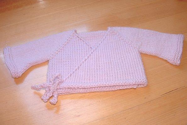 c30942a12c39 Free Knitting Pattern - Baby Sweaters  Bulky Seamless Baby Kimono ...