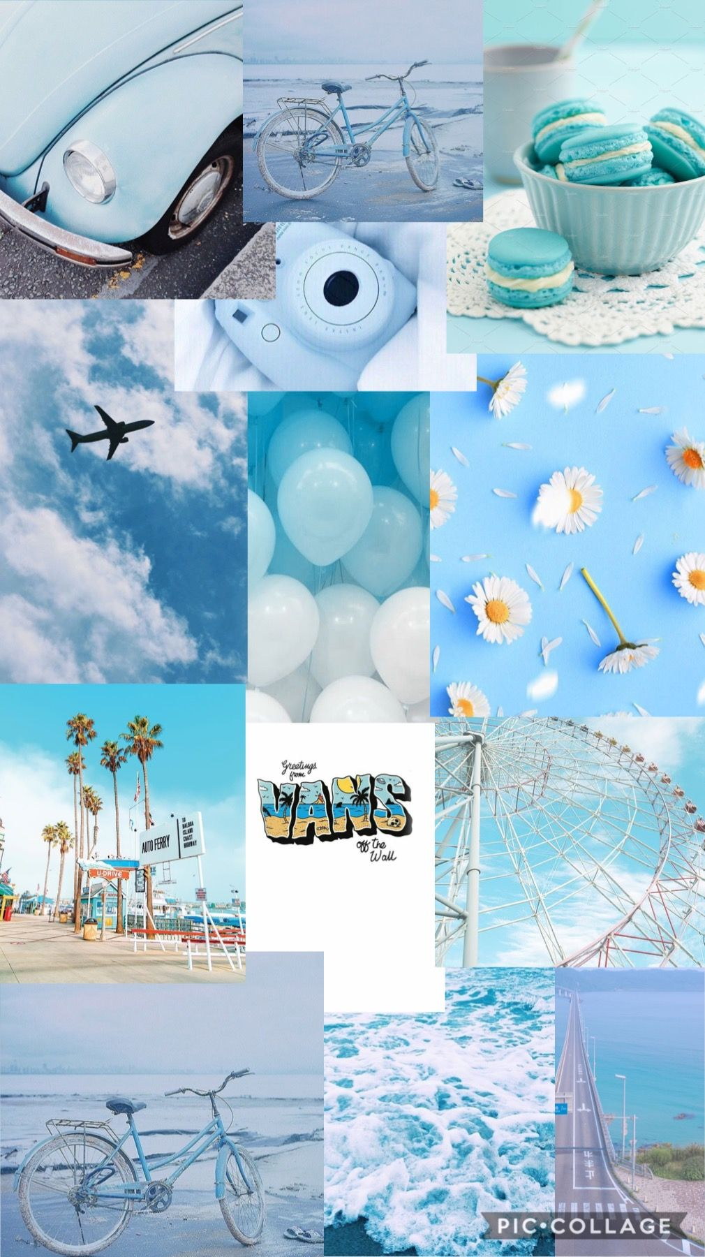 Baby Blue Collage Cute Tumblr Wallpaper Cute Patterns Wallpaper Iphone Background Wallpaper