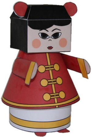 China Doll paper craft + other Chinese New Year Crafts http://www ...