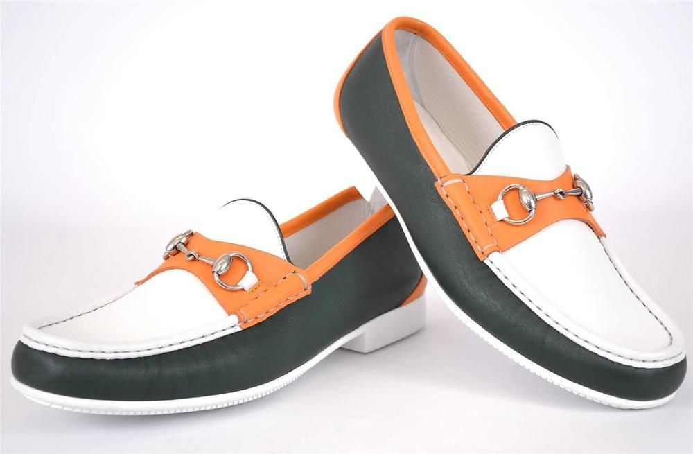 62e127053b3 NEW Gucci Men s 337060 Horsebit Colorblock Leather Loafer Shoes 9.5 G 10.5  U.S.  Gucci  LoafersSlipOns