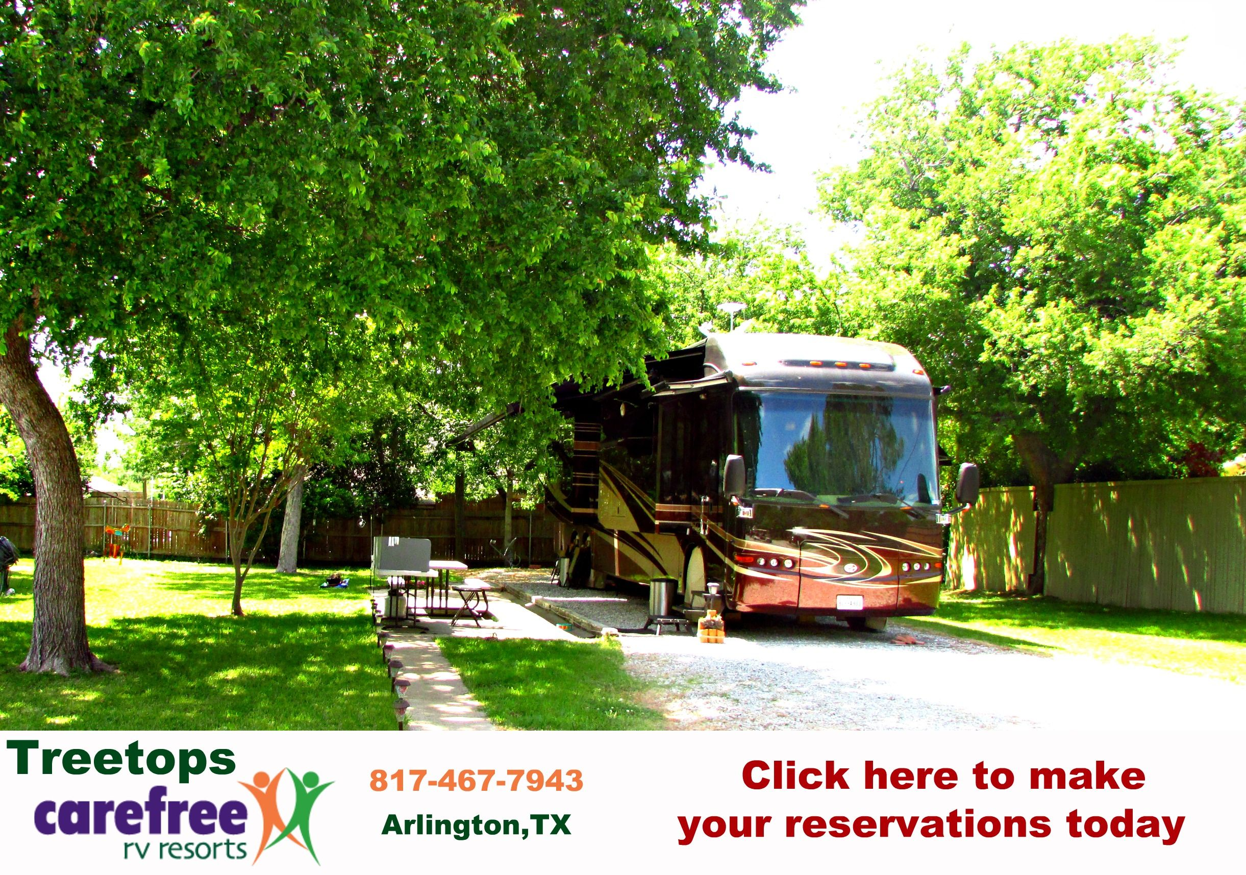 Visit Treetops Carefree Rv Resort In Arlington Tx And