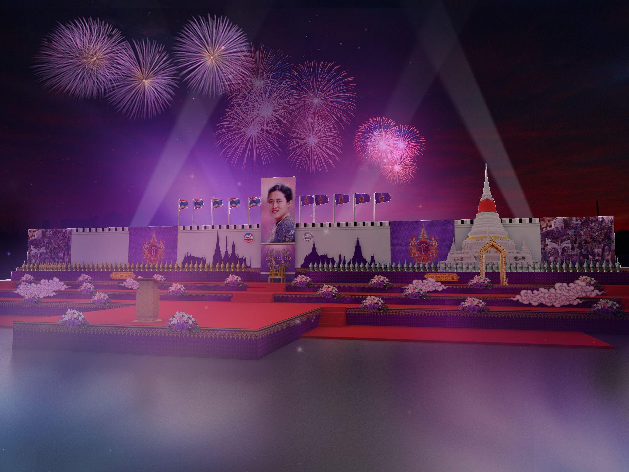 Tile :วันอนุรักษ์มรดกไทย Design : วันงานเฉลิมพระเกียรติสมเด็จพระเทพรัตนราชสุดาฯ สยามบรมราชกุมารี และแสดงเอกลักษณ์ของเมืองสมุทรปราการ Client : องค์การบริหารส่วนจังหวัดสมุทรปราการ