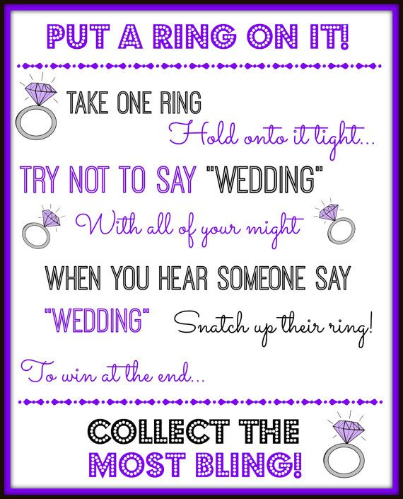 Put a Ring on It Fun Bridal Shower  or Bachelorette by OliveMeadow