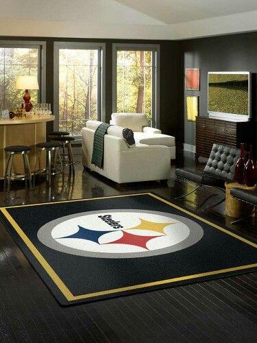 Love This Rug Pittsburgh Steelers Man Cave Steelers Bedroom Steelers