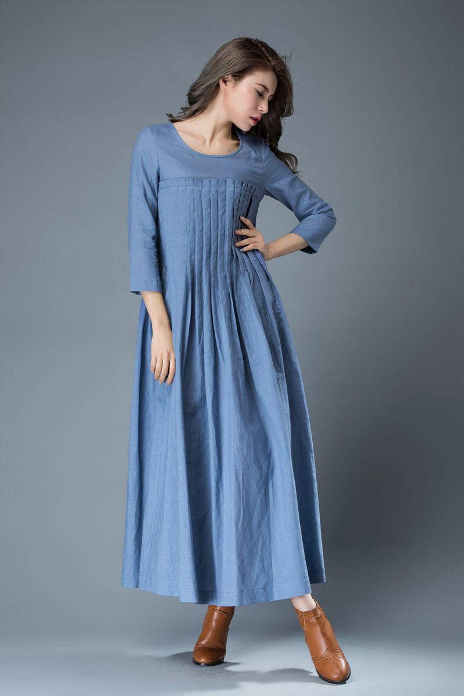 Linen Dress For Women Maxi Dress Pockets Linen Dress Long Etsy In 2020 Womens Dresses Maxi Dress Long Linen Dress