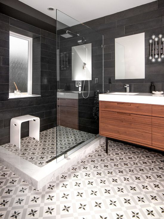 Classic Vintage Bathroom Tile Patterns For Rustic Accent