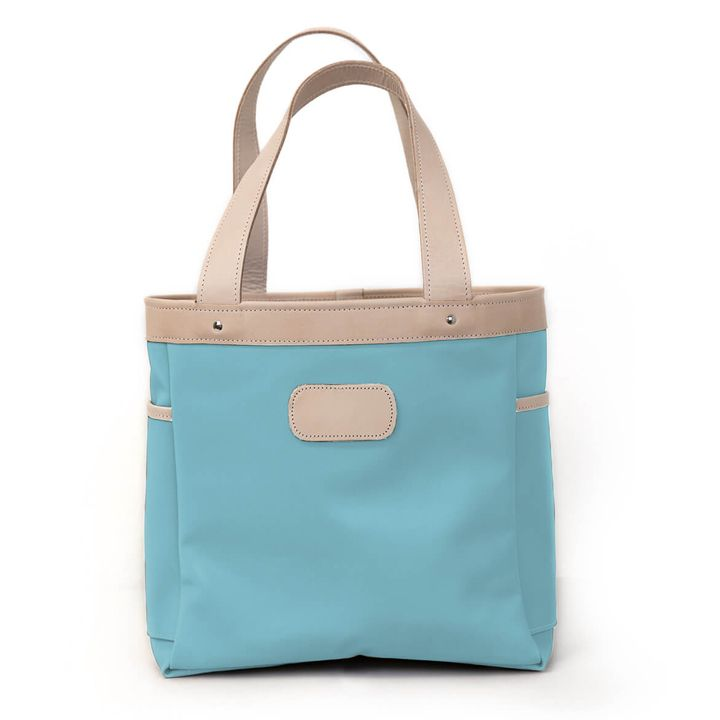 Jon Hart Left Bank Tote Shown In Ocean Blue Coated Canvas