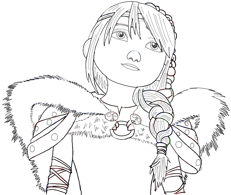 How To Draw Astrid From How To Train Your Dragon 2 In Simple Step By