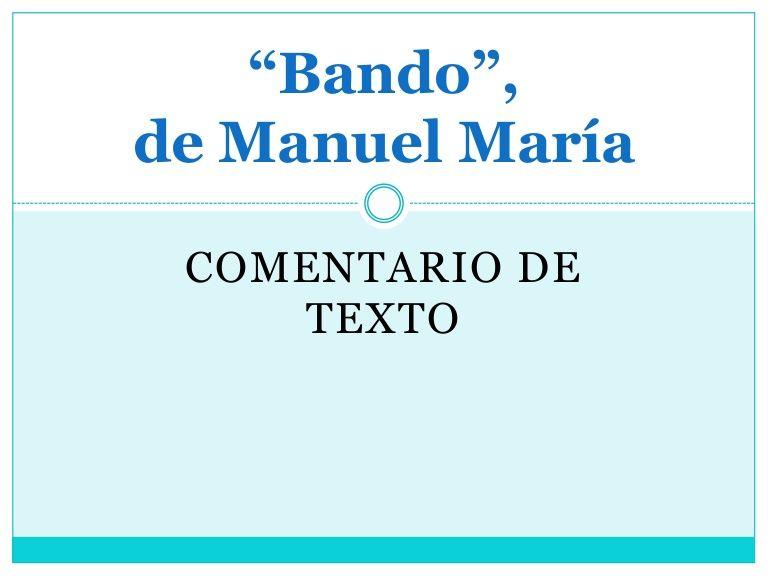 Modelo de comentario feito: poema de Manuel María, de colelour via slideshare
