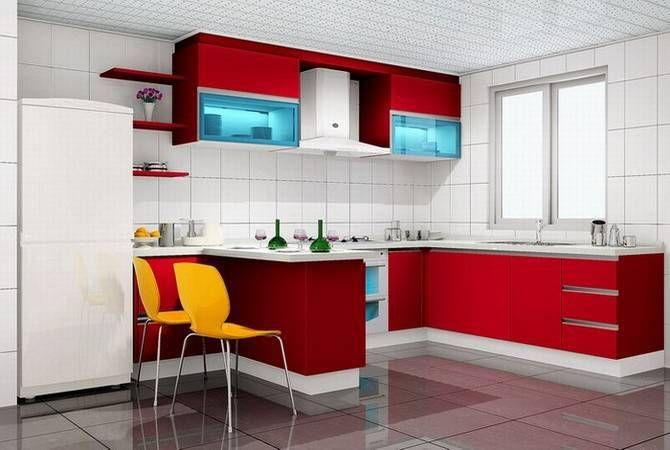 Modular Kitchen Designs Red White Alluring Modular Kitchen Design Modular  Kitchen Designs Pinterest Inspiration Design