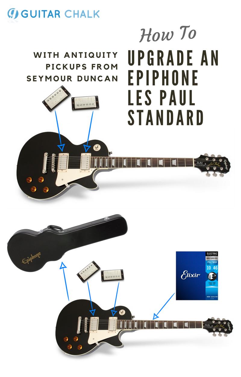 Upgrading A Cheap Epiphone Les Paul Standard Electric Guitar Epiphone Epiphone Les Paul Les Paul Standard