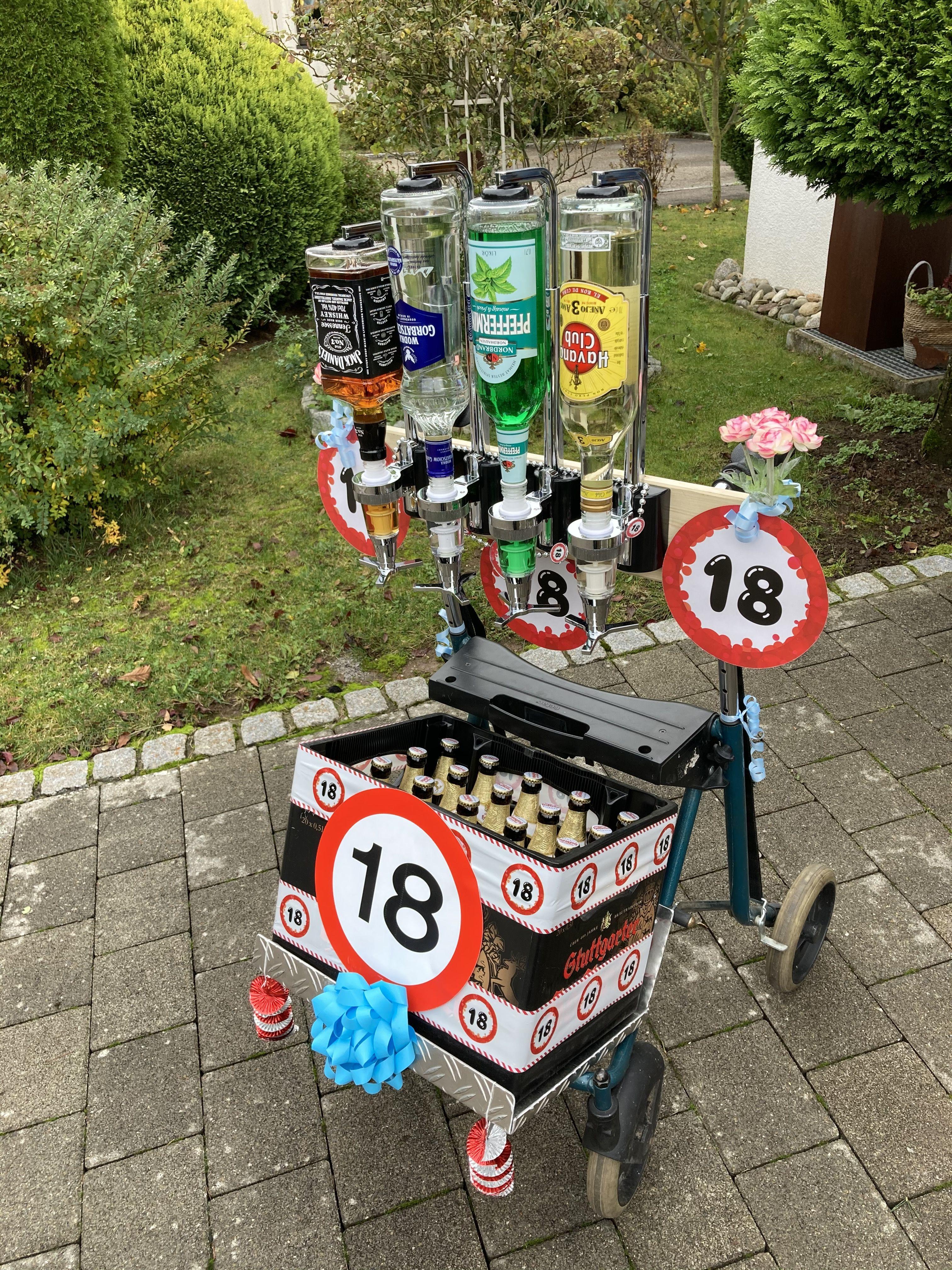 18 Geburtstag Alkohol Rollator Alkohol Geschenkt Lustige Geburtstagsgeschenke Geburtstagsgeschenk Alkohol 18 Geburtstag Geschenk