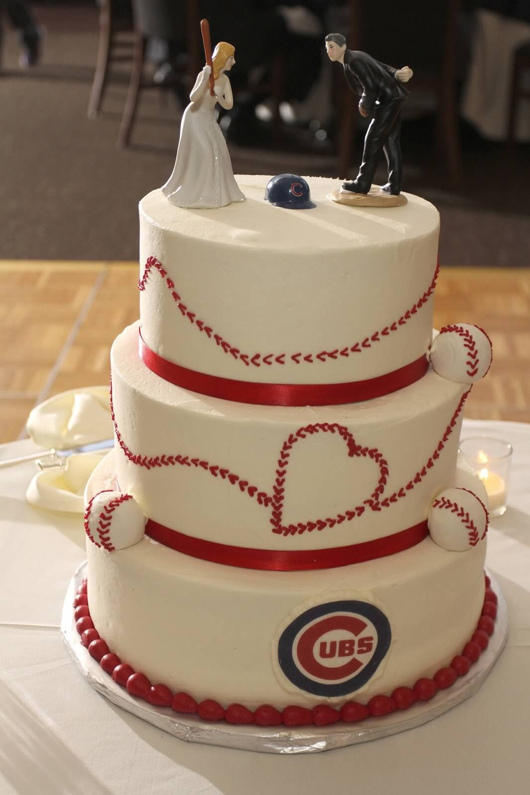 Chicago Cubs Baseball Wedding Cake Chicago Cubs Pinterest
