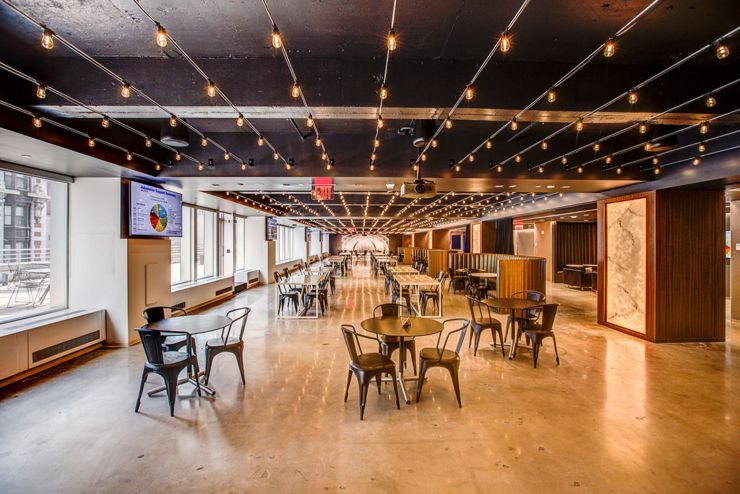 A Tour of Indeed\'s New NYC Office | Rooftop terrace, Office spaces ...