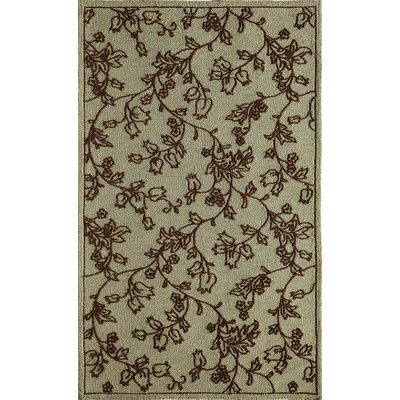 "The Conestoga Trading Co. Ivory/Light Blue Indoor/Outdoor Area Rug Rug Size: 2'6"" x 3'6"""