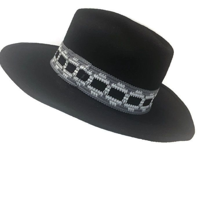 c1e63f2cc9e848 Range Rider WPL 5923 Black 100% Wool Felt Western Cowboy Hat size 7 3/8 VTG  #Unbranded #Cowboy #Casual