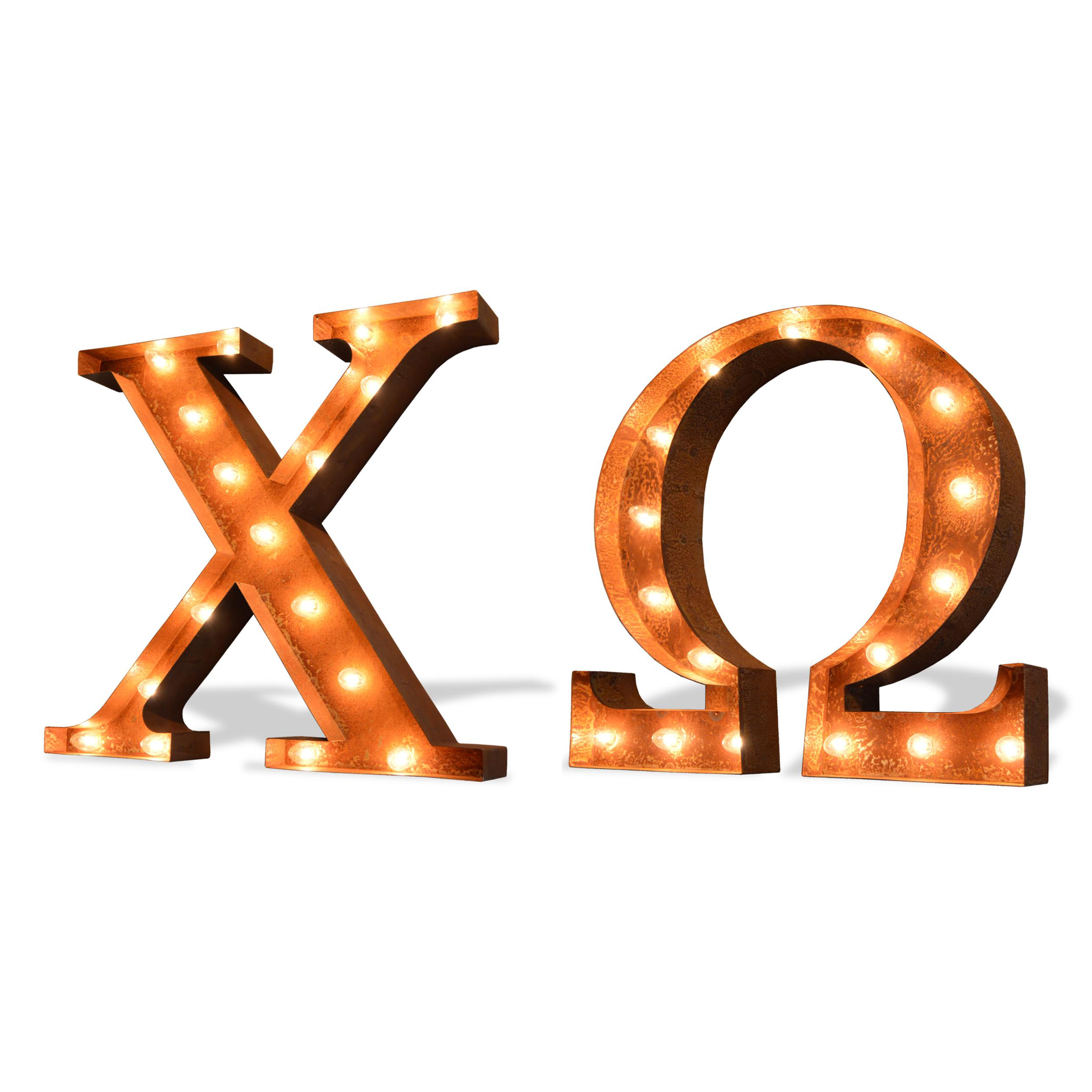 Chi Omega Vintage Marquee Greek Light Up Letters | Products | Pinterest