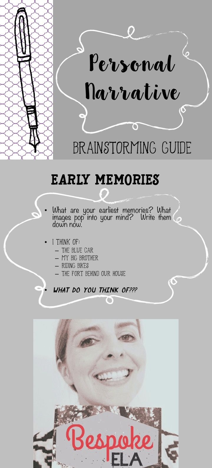 Personal Narrative Essay Brainstorming Activity  Ela Secondary   This Powerpoint Activity Takes Students Through A Brainstorming Exercise In  Which Students Are Presented With Various Categories And Quickly List  Memories  Business Etiquette Essay also English Essay Example  Essay Examples For High School Students