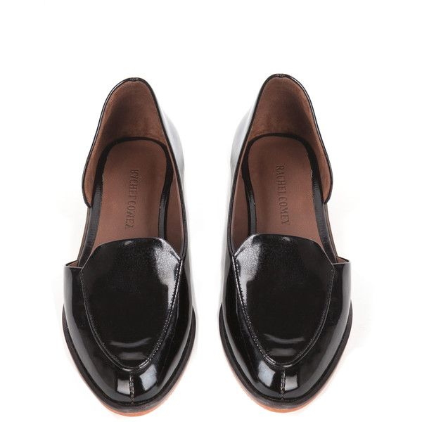 Rachel Comey Bolt Patent Loafers (385 BRL) ❤ liked on Polyvore featuring shoes, loafers, flats, обувь, plum, loafer shoes, summer flats, summer shoes, patent flats and patent leather shoes