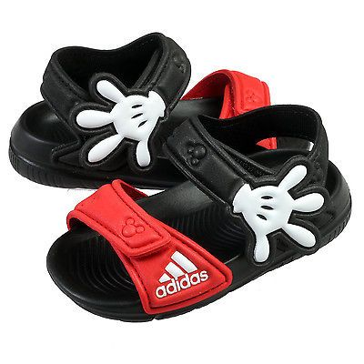 Adidas Disney Mickey Mouse Akwah 9 Infant AF3919 Black Sandals Toddler Baby  Sz 9