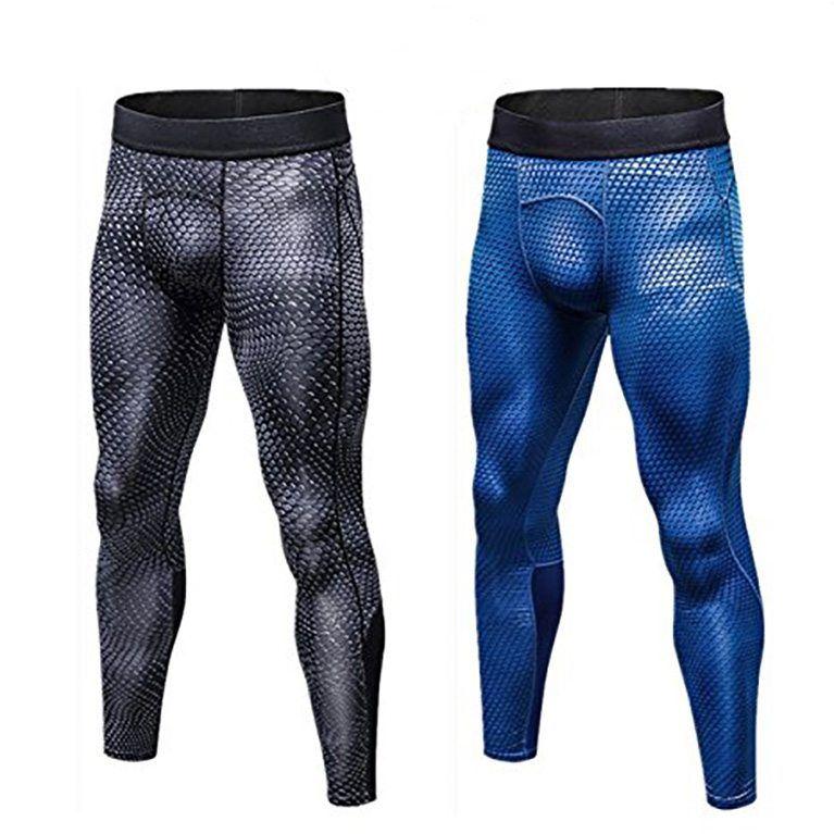 Herren Kompression Leggings Stretch Sporthose Laufhose Gym Training Jogginghose