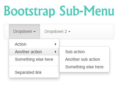 Bootstrap Sub-Menu #jQuery #bootstrap #menu #submenu #navbar