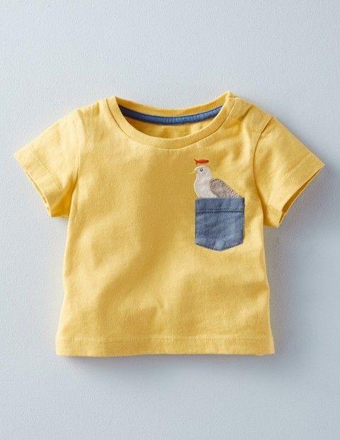 T-Shirt mit Tier-Tasche | Kinderkleidung | Pinterest | Shirts, Tier ...