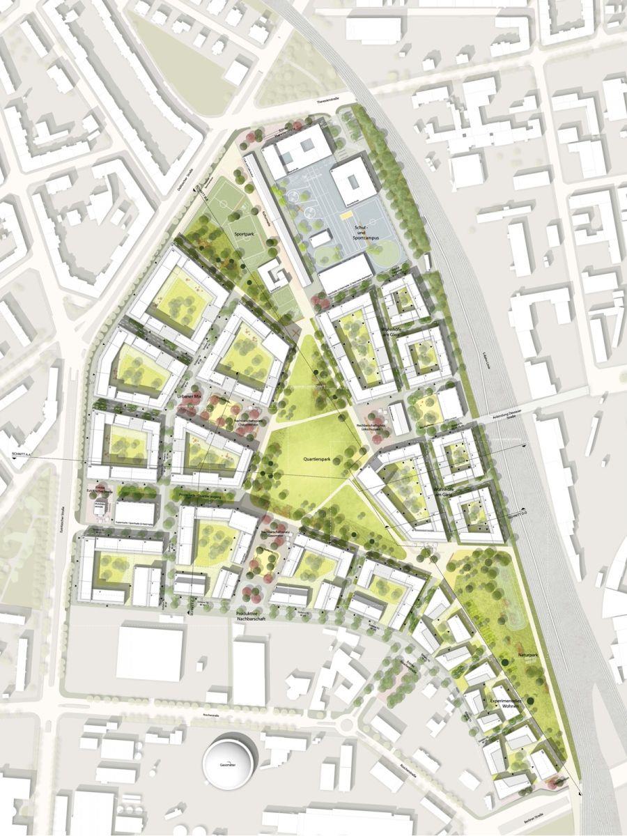Octagon architekturkollektiv entw rfe flb sections - Architektur plan ...