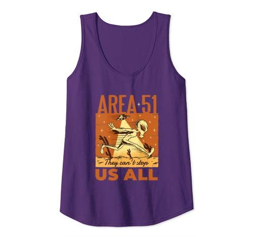 Funny Area 51 Alien Ufo They Can't Stop All Of Us Gift Tank Top Women #area51partyoutfit