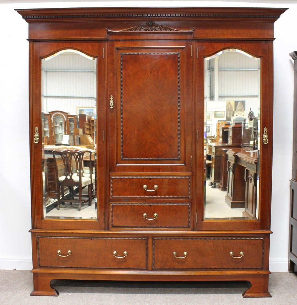 Antique 1920's Mahogany Wardrobe Antiques for sale