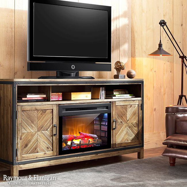 Add Character To Your Home Theater With The Dover 64 5 Tv Console Which Features A Heavily Brushed Barley Brown Finish And Metal Accents For Stylish