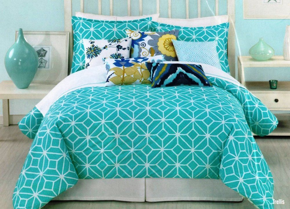 green teen bedding set | teen girl room ideas | pinterest | bed
