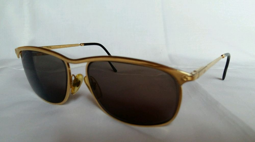 Vntg Persol Ratti Key West Prescription Sunglasses Gold metal Color Flexy Hinges #Persol