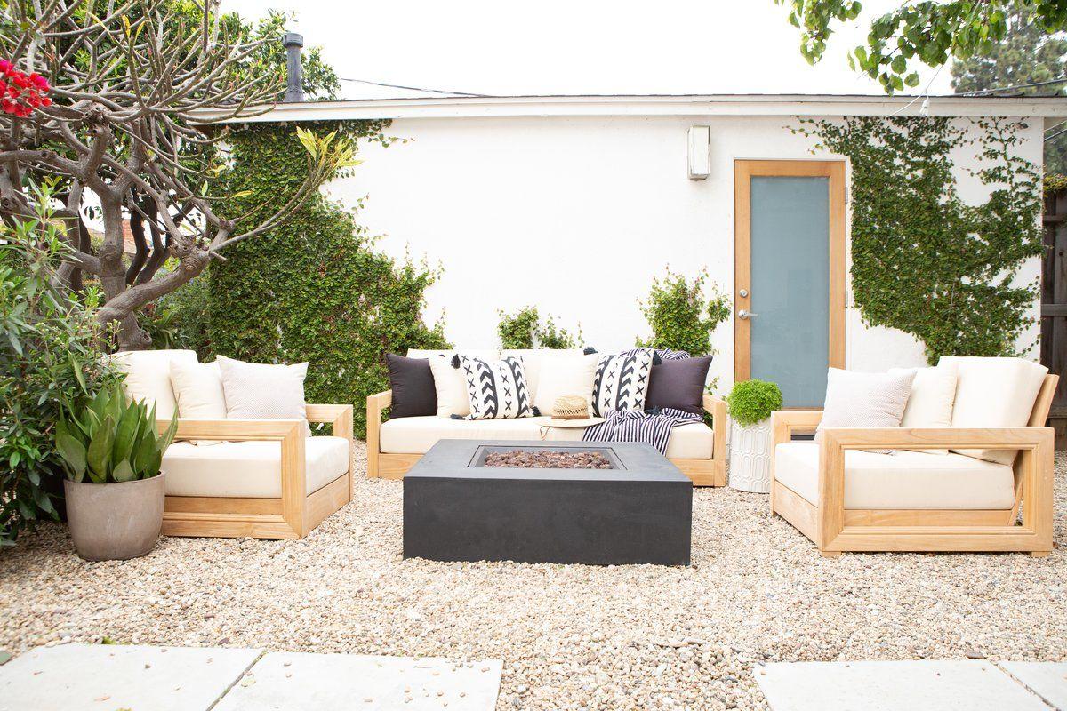 Rosecliff Heights Lakeland Teak Patio Sofa with Cushions ...