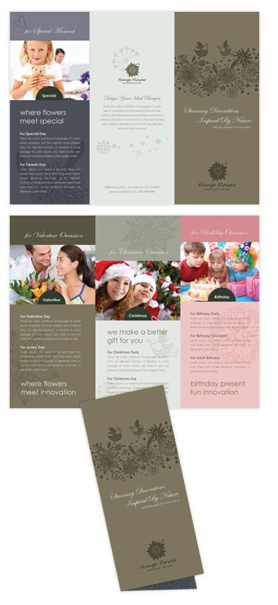 Gift  Florist Shop Tri Fold Brochure Template  All Templates