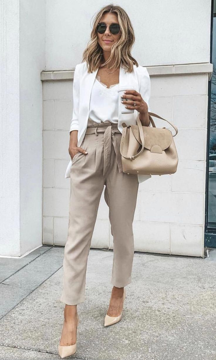 Cute Summer Work Outfit with Polene Bag