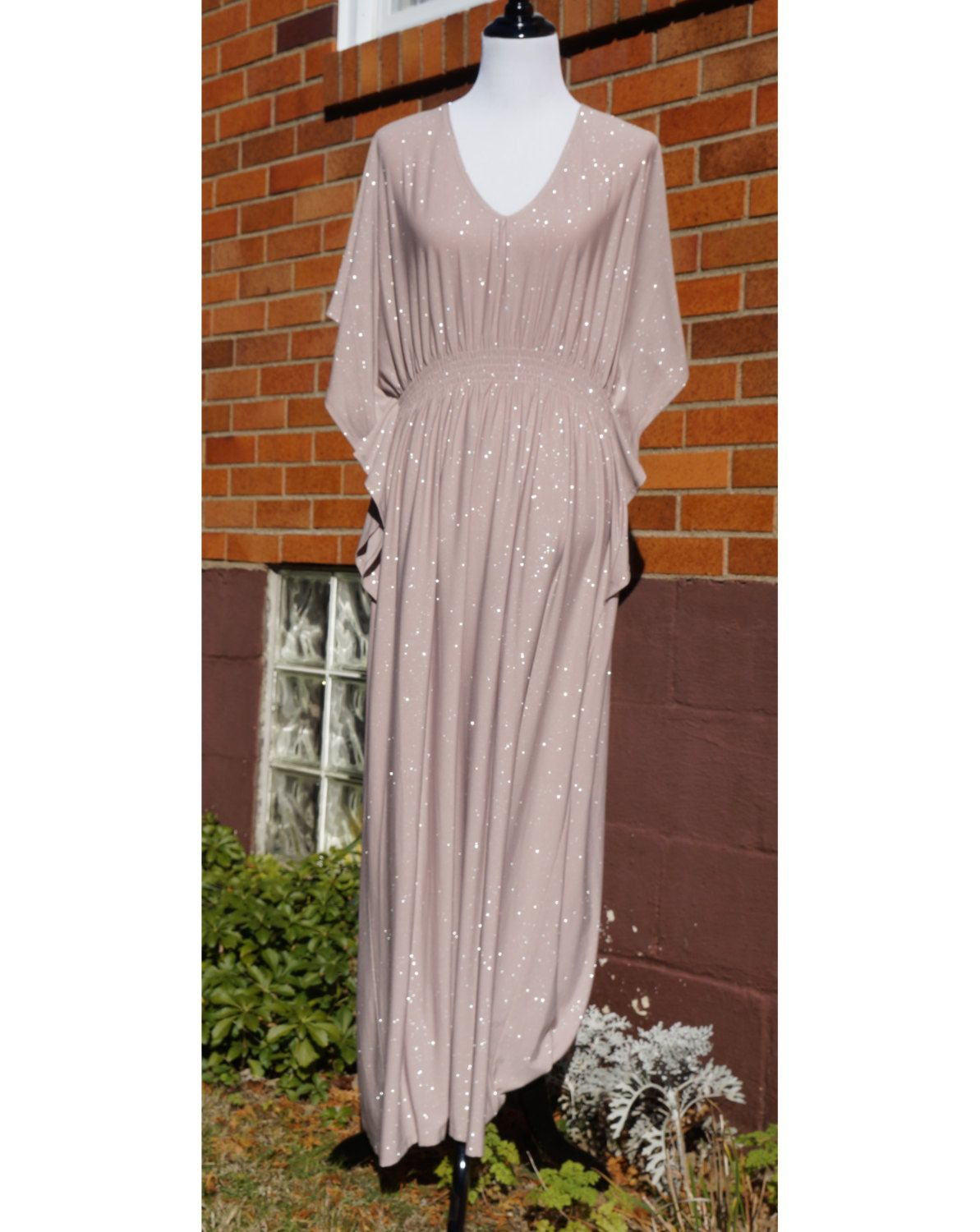 Sparkle Caftan Kaftan Glitter Special Occasion Party Dress, Nude ...