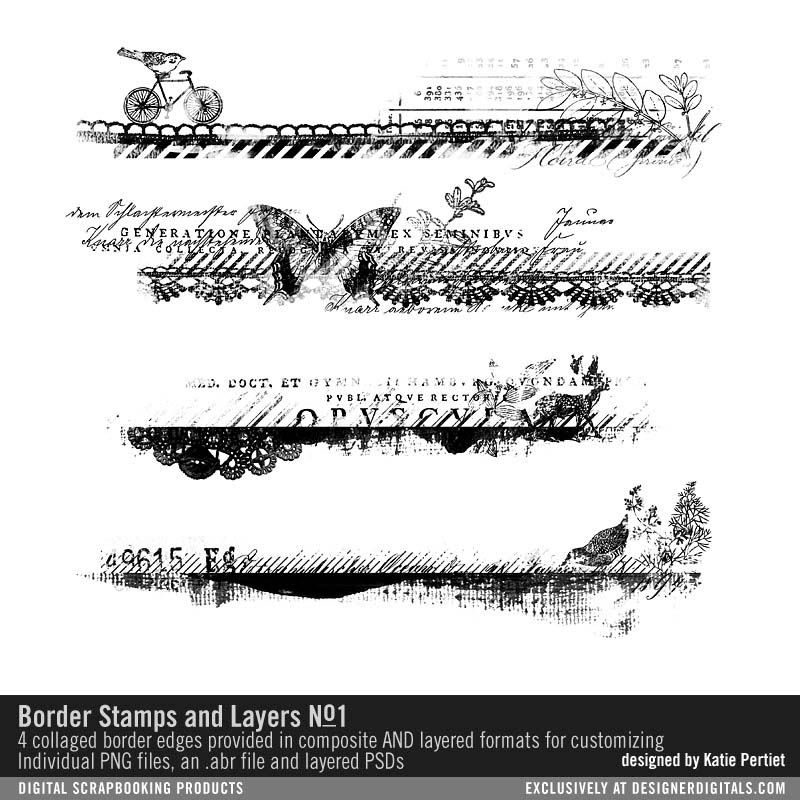 Border Stamps and Layers No. 01 #borders #edges #edgers #
