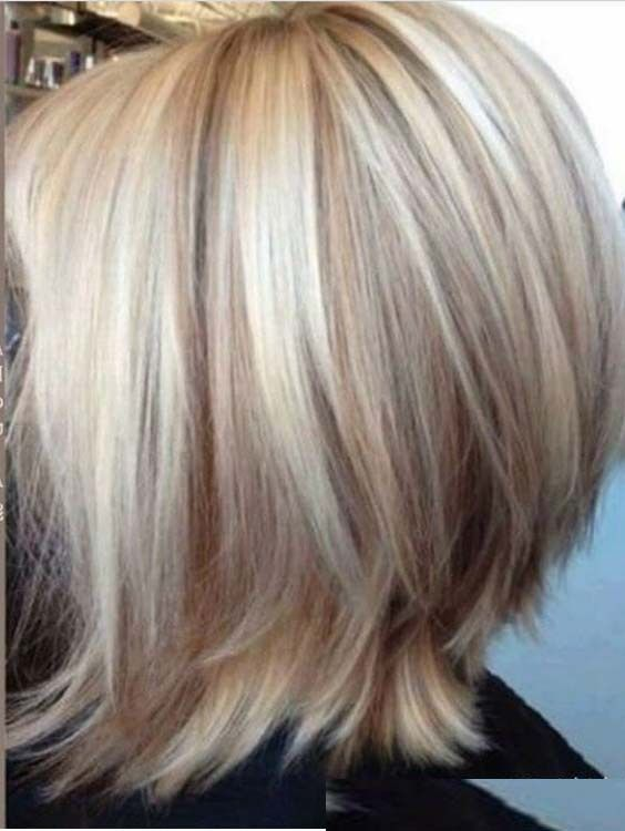 Short Blonde Haircuts With Highlights And Lowlights 2018