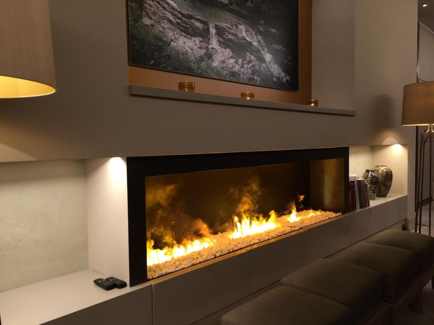 Wall mount electric fireplace under tv - Hanging tv on wall ideas ...