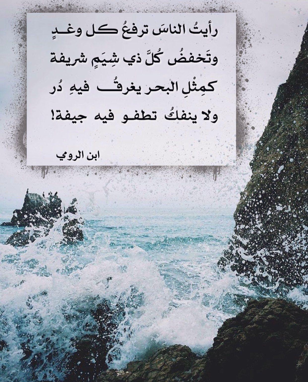 كم ث ل البحر يغرق فيه د ر ولا ينفك تطفو فيه جيفة Words Quotes Arabic Poetry Poetry