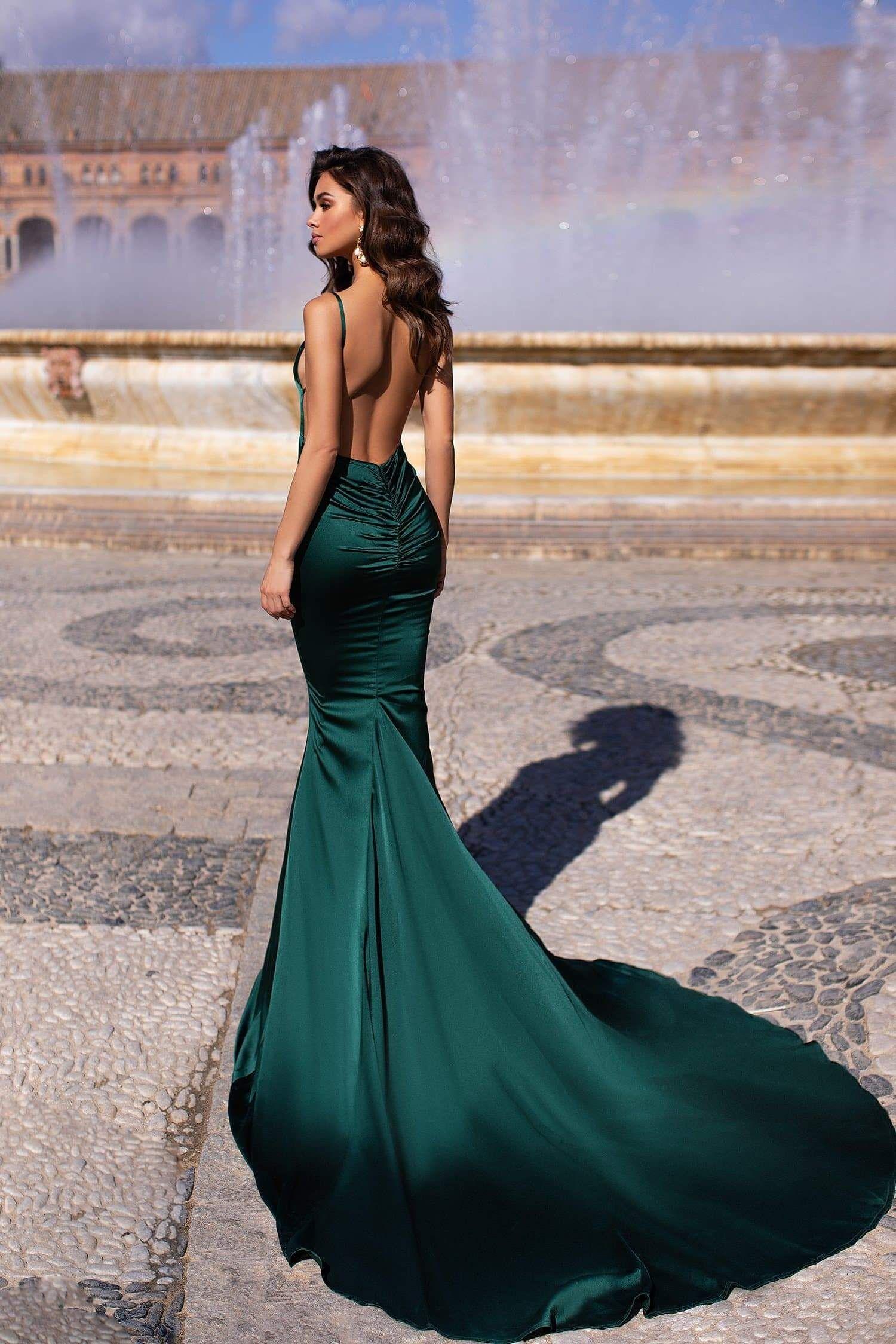Delara Emerald Mermaid Evening Dresses Ball Dresses Prom Dresses [ 2249 x 1500 Pixel ]