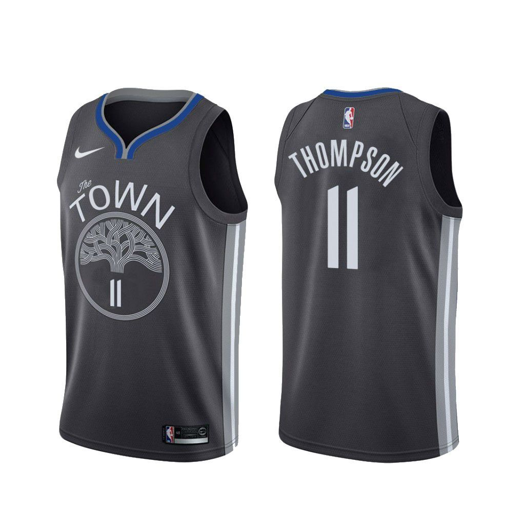Men S Klay Thompson Black Golden State Warriors 2019 20 Finished Swingman Jersey City Edition In 2020 Klay Thompson Thompson Golden State Warriors