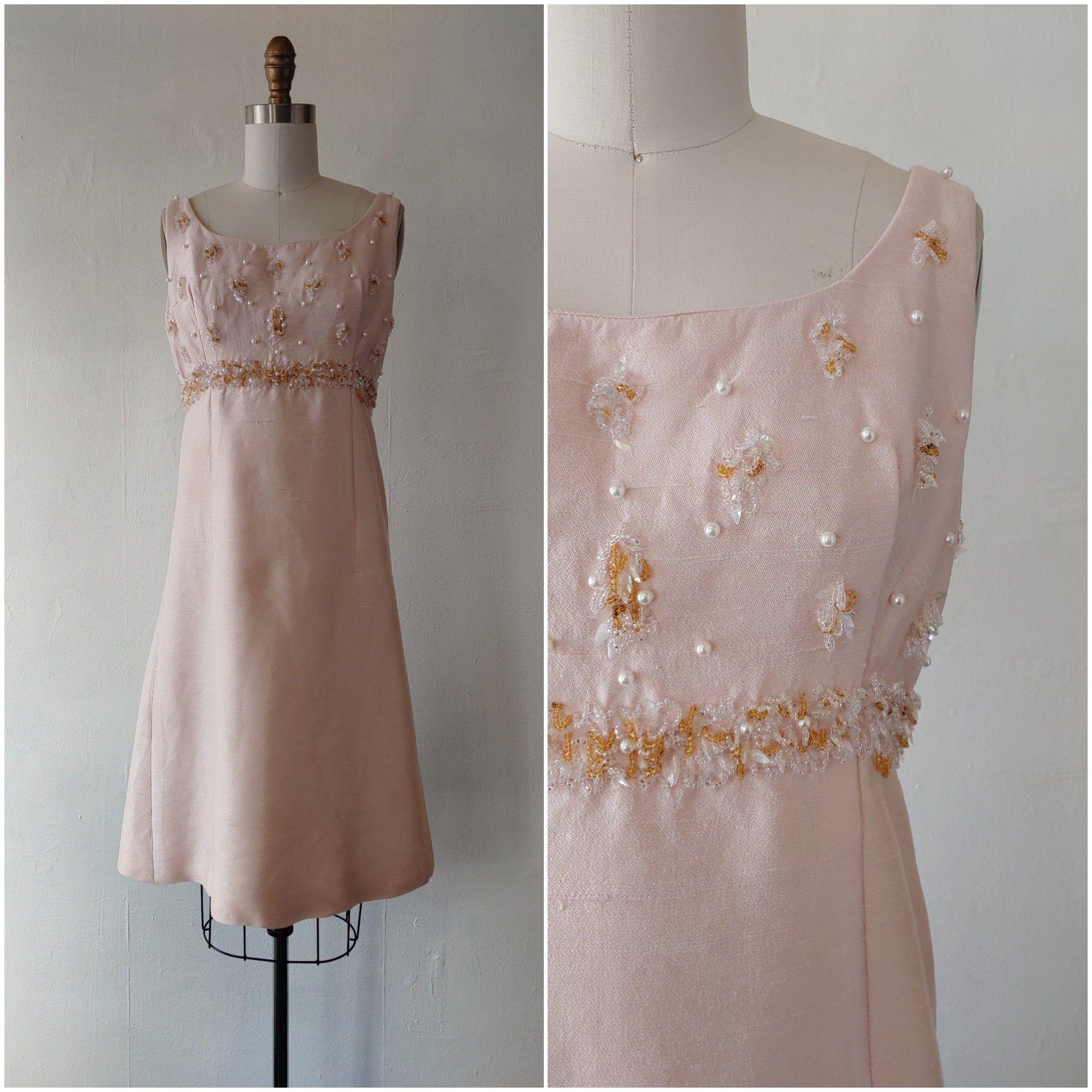 1960s Pink Silk Dress Vintage 1960s Pink Silk Cocktail Dress Etsy [ 2000 x 2000 Pixel ]