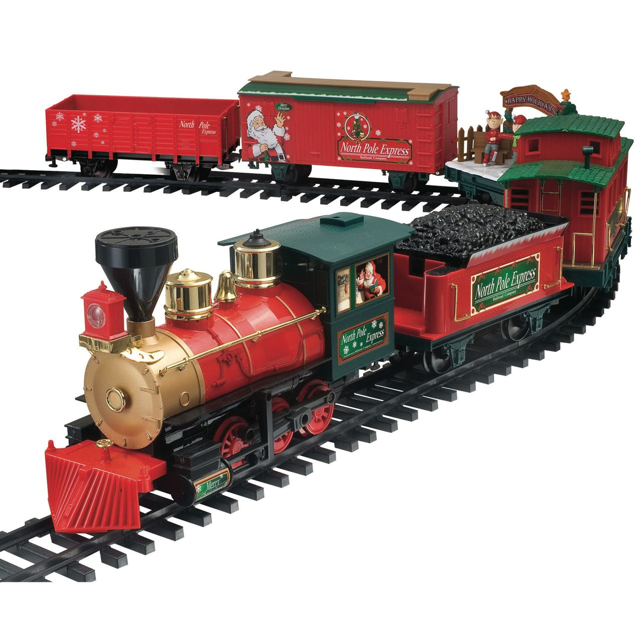 6 Carriage North Pole Express Christmas Train Set | Christmas ...
