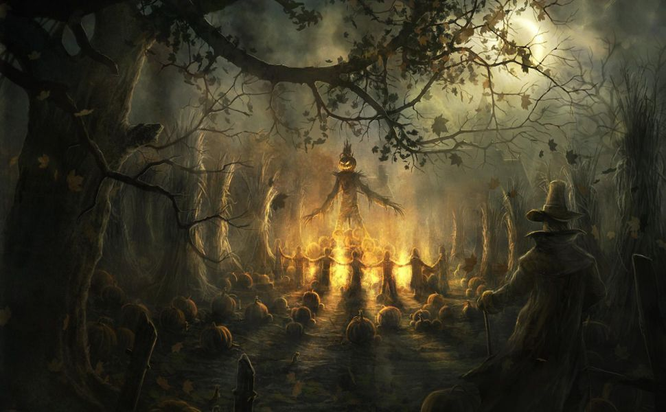 Halloween Scarecrow HD Wallpaper
