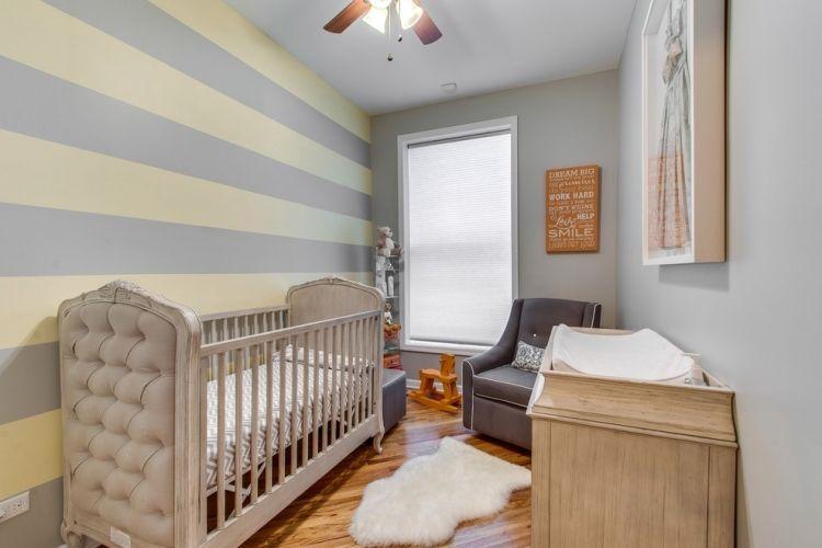 Enges Kinderzimmer Optisch Erweitern Mit Horizontalen